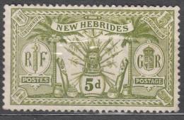 New Hebrides 1911 Yvert#38 MNG - Leyenda Inglesa