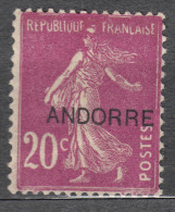 Andorra 1931 Mi#8 Mint Hinged