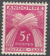 Andorra Timbre Taxe Yvert#29 Mint Hinged