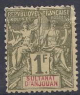 Anjouan 1892 Yvert#13 Mint Hinged - Unused Stamps