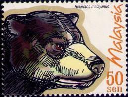 Malaysia 1999 S#695 Protected Mammals MNH Fauna Bear - Malaysia (1964-...)