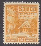 SAMOA, 1921 2d YELLOW HUT MH - Samoa