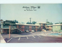 Unused Pre-1980 OLD CARS & TRAVELODGE MOTEL San Bernardino California CA S7087 - Ohne Zuordnung