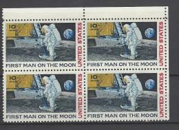 USA Mi-Nr. 990 Viererblock - Erste Bemannte Mondlandung Postfrisch - Raumfahrt