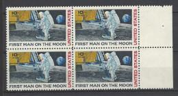 USA Mi-Nr. 990 Viererblock - Erste Bemannte Mondlandung Postfrisch (2) - Raumfahrt