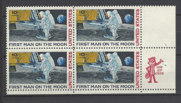 USA Mi-Nr. 990 Viererblock - Erste Bemannte Mondlandung Postfrisch (3) - Raumfahrt