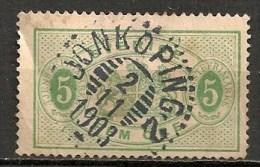 Timbres - Suède - 1881/95  - Service -  5 Ore -
