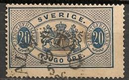 Timbres - Suède - 1881/95  - Service -  30 Ore -