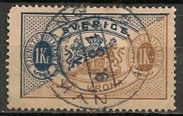 Timbres - Suède - 1881/95  - Service -  1 Kr. -