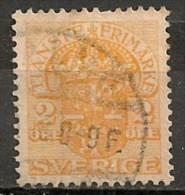 Timbres - Suède - 1910  - Service -  2 Ore -
