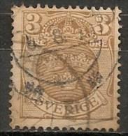 Timbres - Suède - 1910  - Service -  3 Ore -