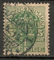 Timbres - Suède - 1910  - Service -  5 Ore -