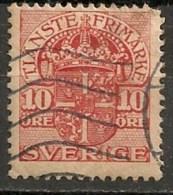 Timbres - Suède - 1910  - Service -  10 Ore -