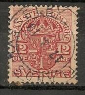 Timbres - Suède - 1910  - Service -  12 Ore -
