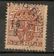 Timbres - Suède - 1910  - Service -  15 Ore -