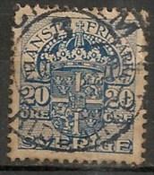 Timbres - Suède - 1910  - Service -  20 Ore -