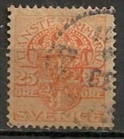 Timbres - Suède - 1910  - Service -  25 Ore -