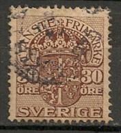 Timbres - Suède - 1910  - Service -  30 Ore -