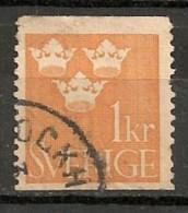 Timbres - Suède - 1910  - Service -  1 Kr. -