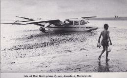 I.O.M. MAIL PLANE CRASH -AINSDALE, MERSEYSIDE  1987 - Ile De Man