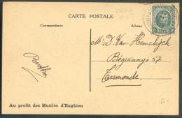 5centimes Houyoux  Obl. Sc Ambulant TOURNAI-BRUXELLES 2 Sur C.V (Enhgien) 19 Novembre 1926 Vers Termonde - 10258 - Postmark Collection