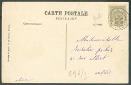 81  Obl. Sc Ambulant ARLON-BRUXELLES 1 Sur C.V (La Meuse à Samson) 9 Août 1909 Vers Anvers - 10259 - Postmark Collection