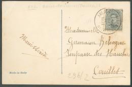 3 Centimes Emission 1915 Obl. Sc Ambulant ARLON-BRUXELLES (BRUSSEL) 2 Sur C.V Vers Couillet - 10260 - Postmark Collection