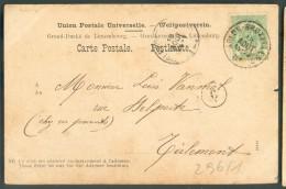 N°56 Obl. Sc Ambulant ARLON-BRUXELLES 2 Sur C.V  Du 18 Août 1901 Vers Tirlemont- 10261 - Postmark Collection