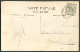 N°81 Obl. Sc Ambulant AMBt BRUXELLES-ARLON N°1 Sur C.V (vue De Jemelle)  Du 17 Mai 1910 Vers Berchem - 10262 - Postmark Collection