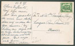35 Centimes Lion Sceau De L'Etat  Obl. Sc Ambulant ARLON-BRUXELLES 3 Sur C.V (Panorma De Gemboux) Du 13 Septembre 1937 V - Postmark Collection