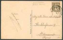 10 Centimes CERES  Obl. Sc Ambulant MONS-TOURNAI BERGEN-DOORNIK Sur C.V (Nederbrakel) Du 2 Octobre 1933 Vers St-Amands- - Postmark Collection