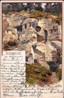 [DC5030] CARTOLINA - GERMANIA - HEIDENLOECHER BEI UEBERLINGEN - Viaggiata 1899 - Old Postcard - Ueberlingen