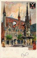 [DC5031] CARTOLINA - GERMANIA - LUBECCA - KARLSRUHE LUBECK - FIRMATA KLEY - Viaggiata - Old Postcard - Non Classificati