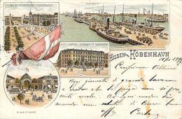 [DC5032] CARTOLINA - RARA - KIOBENHAVN - COPENHAGEN - DANIMARCA - Viaggiata 1897 - Old Postcard - Danimarca