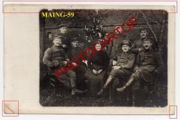 MAING-Femme-Soldats-Carte Photo Allemande-Guerre 14-18-1WK-France-59- - Non Classés