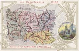 CPA - Carte Du Département  - Edition De La Chocolaterie D´Aiguebelle - Sin Clasificación