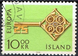 ICELAND  # STAMPS FROM YEAR 1968   STANLEY GIBBON 449 - 1944-... Republik