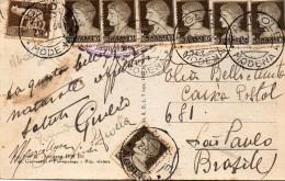 1938 CARTOLINA  CON ANNULLO  TAGLIOLE MODENA - 1900-44 Victor Emmanuel III