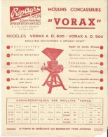 """Moulin Concasseur/""""VORAX""""/Répagr I/ LYON/1949    VP695 - Agriculture"""