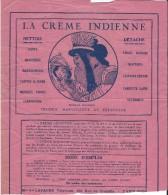 Droguerie/Nettoie Détache/ La Crême Indienne /Mon Vve LAFAURE/Rue De Grenelle/Paris./Vers 1945  VP697 - Droguerie & Parfumerie