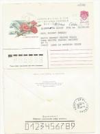 ENTIER POSTAL RUSSIE OBL 1994  OUVERT SUR TOUS LES COTES  THEME  FLEURS - 1992-.... Fédération