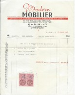 Ameublement/2 Factures Avec Timbres Fiscaux /  Modern-Mobilier/Bd Magenta/ Paris / 1948  VP700 - France