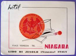 HOTEL ALBERGO PENSION NIAGARA VENEZIA VENISE VENICE ITALY LUGGAGE LABEL ETIQUETTE AUFKLEBER DECAL STICKER - Hotel Labels