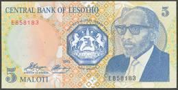 LESOTHO:  5 Maloti - 1989  - UNC - Lesoto