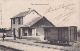 58  ALLIGNY GARE  Quais Du Monde Sur La Voie  Ligne COSNE  St AMAND  WAGON Timbrée 1905 - Zonder Classificatie