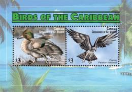 sgc1109ss Canouan St. Vincent 2011 Birds s/s Duck Eagle
