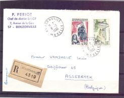 Rép. Française -  Recommandé -  Bouzonville 18/3/1966 (RM7118) - Bateaux
