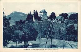 Dept Div - Haute Savoie - Ref W263 -  Cordon - Joli  Paysage Et Chateau De La Barre - Chateaux - Ligne De Chemin De Fer - Francia