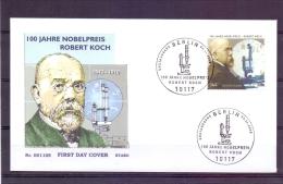 Deutschland - 100 Jahre Nobelpreis Robert Koch - Erstausgabe Berlin 3/11/2005  (RM7220) - Nobelprijs