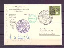 """Deutsche Bundespost  - Jungfernfahrt Des 1. Deutschen Kinderdorf Freiballons """"Bernina"""" - 31/3/59  (RM7278) - Montgolfières"""